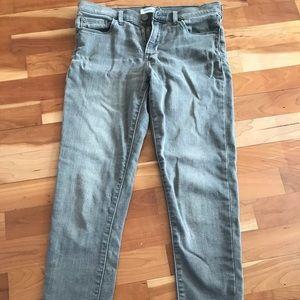 Banana republic gray skinny ankle jeans